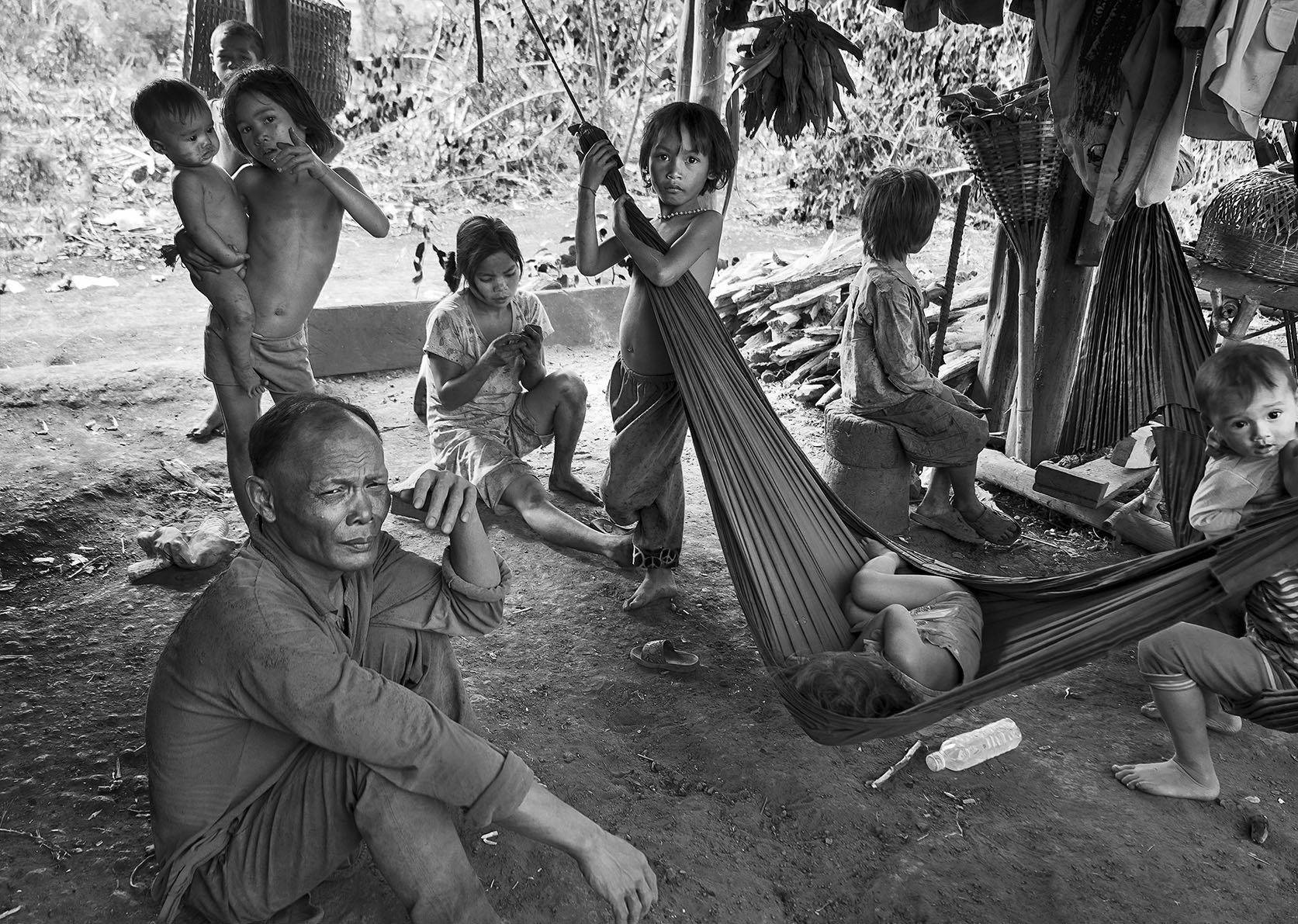 An minority family, living far outside a village in Ratanakiri district