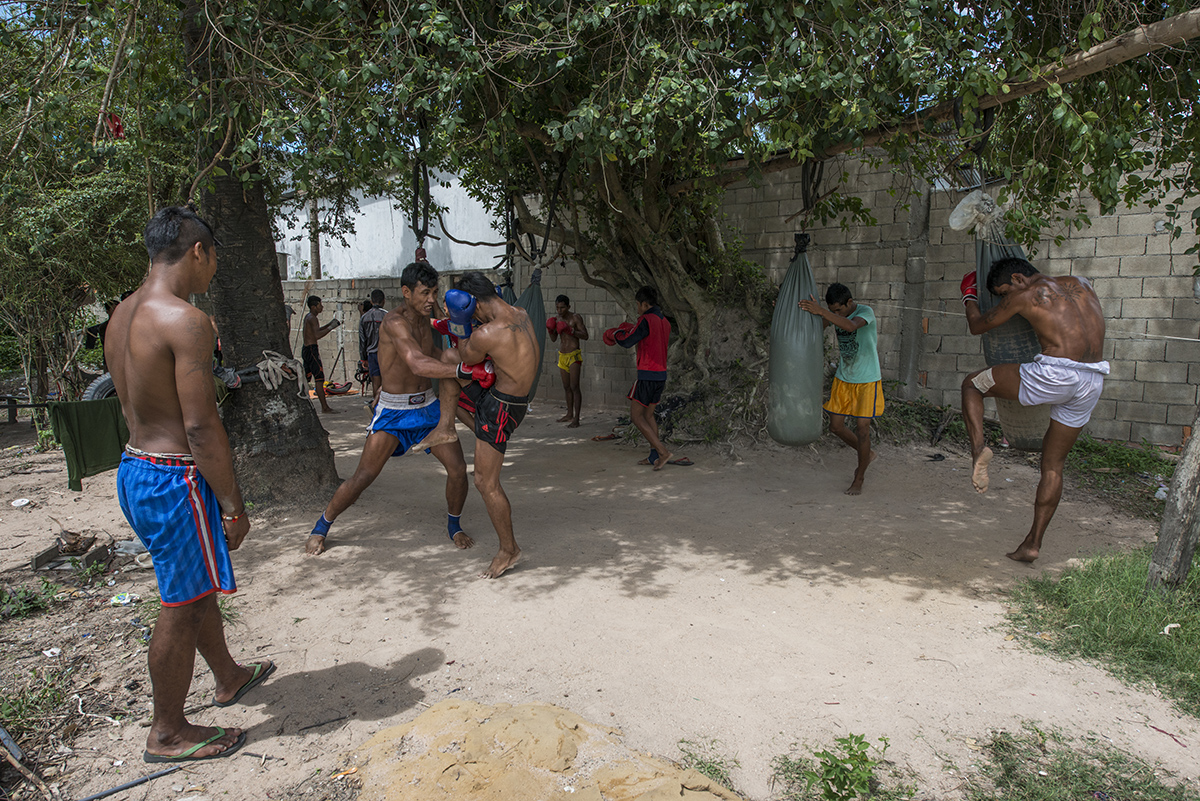 At the training facilities of Cambodian boxers, this school have several champions